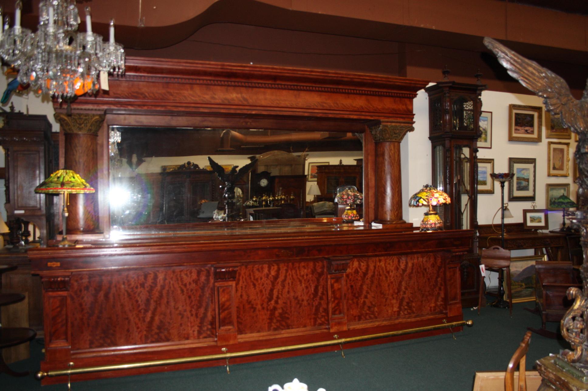 Brunswick Mahogany Bar circa 1885